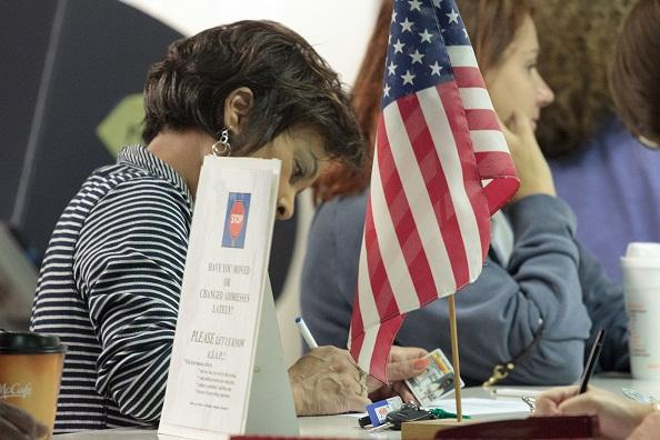 Voters in Stark County lined up during the first day of early voting in 2012