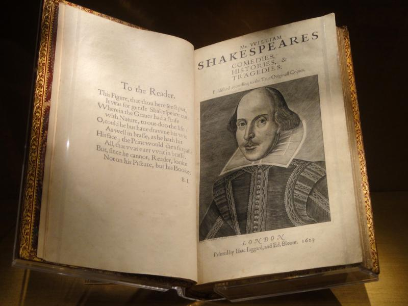 title page of First Folio