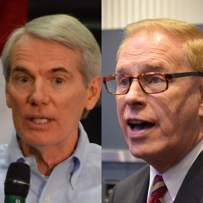 photo of Rob Portman and Ted Strickland