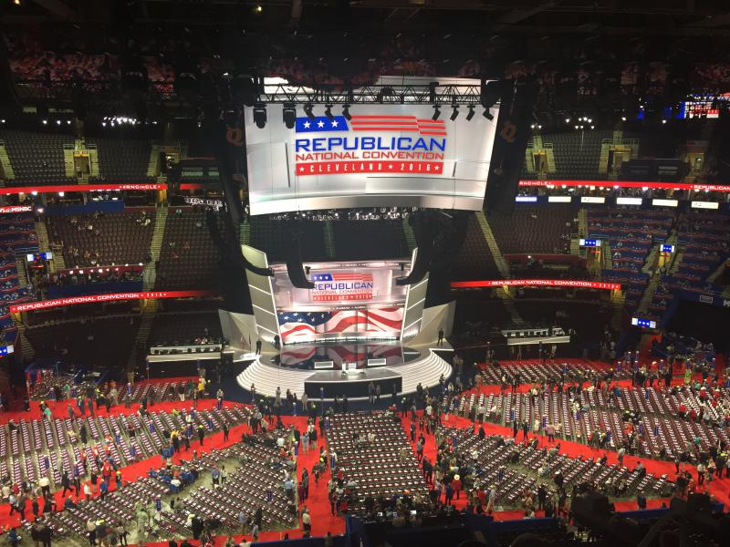 photo of the RNC stage