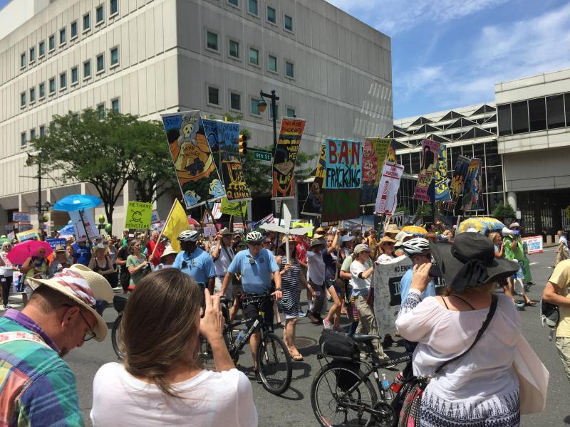 Protesters in Philadelphia