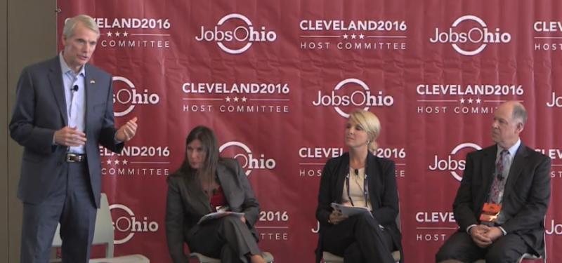 photo of Sen. Rob Portman, Tracy Plouck, Erin Hoeflinger, Dr. Richard Rosenquist