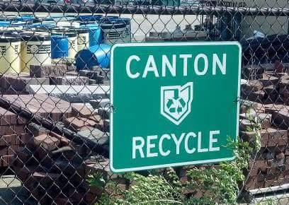 photo of Canton Recycle center sign