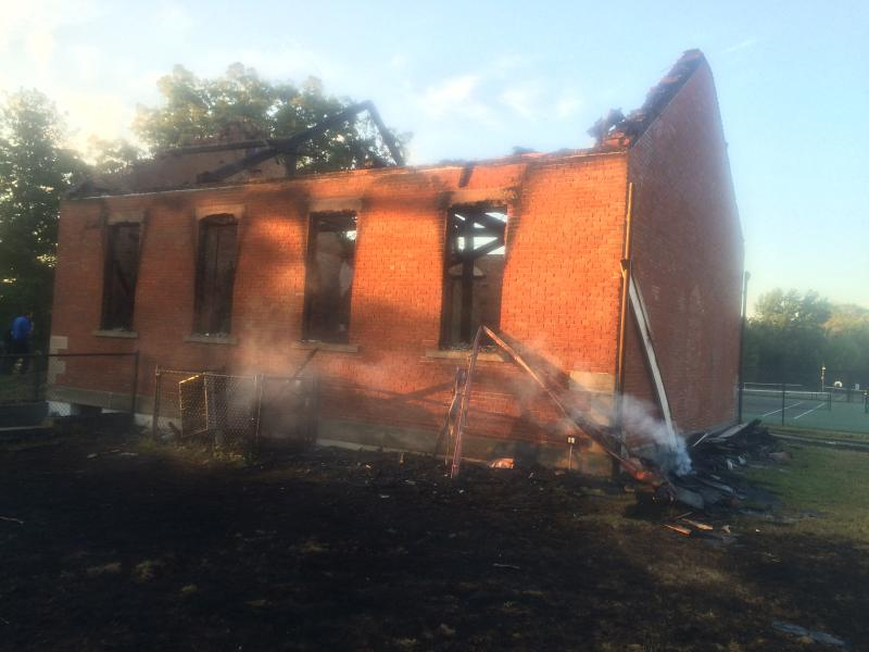 photo of Lichtenwalter Schoolhouse fire
