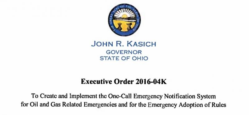 photo of Gov. Kasich's oil and gas drilling executive order