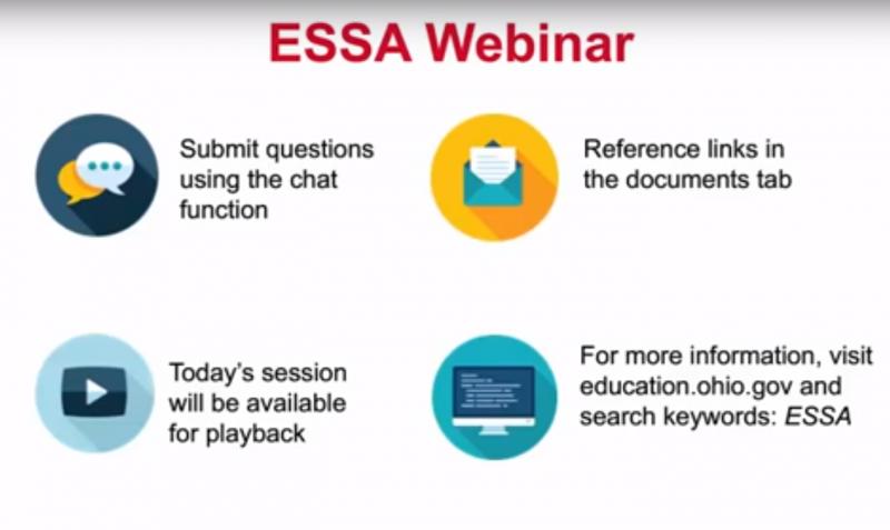 screenshot of ESSA webinar