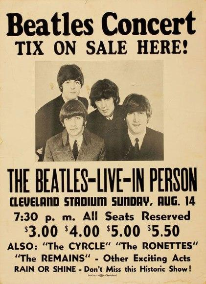 photo of Beatles 1966 concert poster