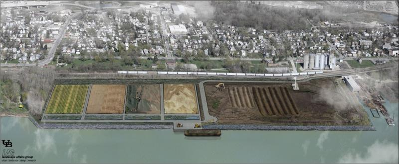 rendering of the dredged material facility
