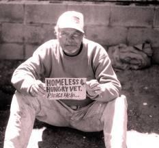 photo of homeless veteran