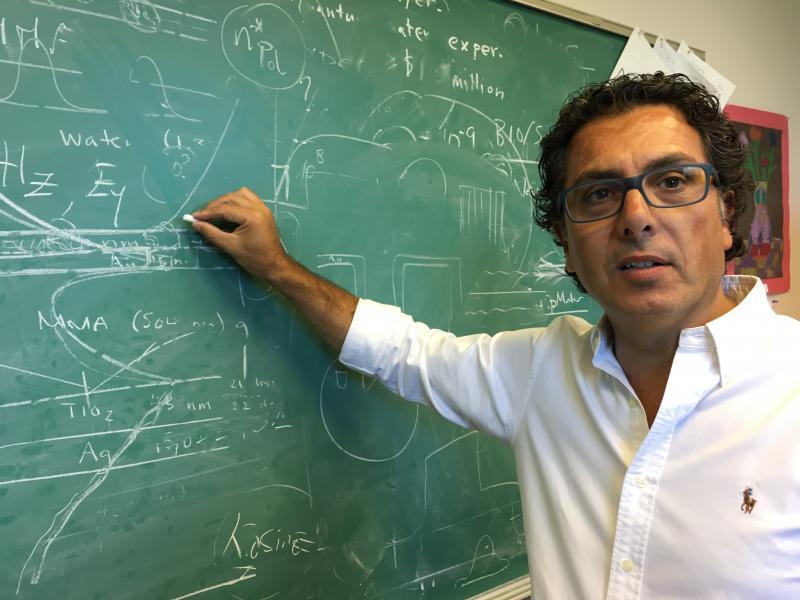 Case Western Reserve University physicist Giuseppe Strangi.