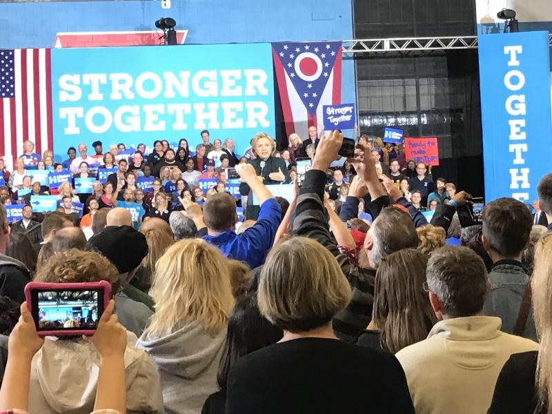 Clinton in Cleveland