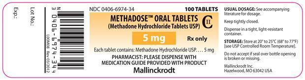 Methadone lable