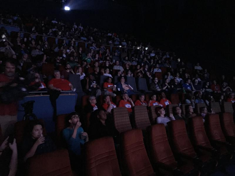 photo of millennials in movie theater