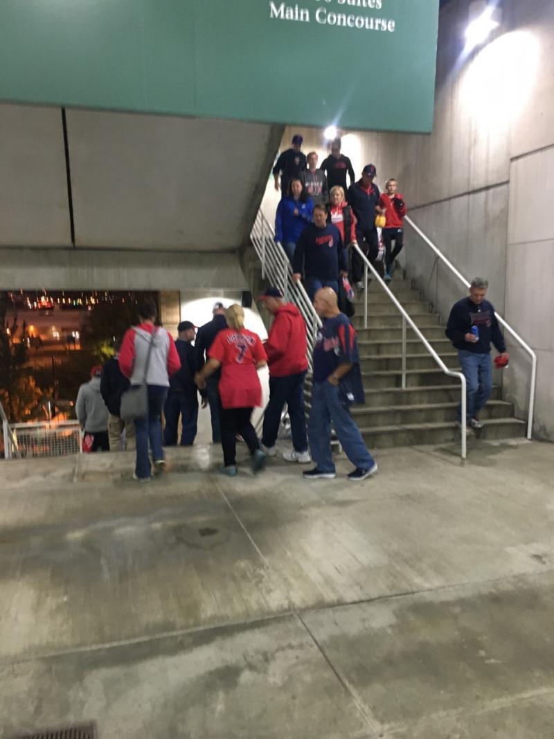 Indians fans leaving