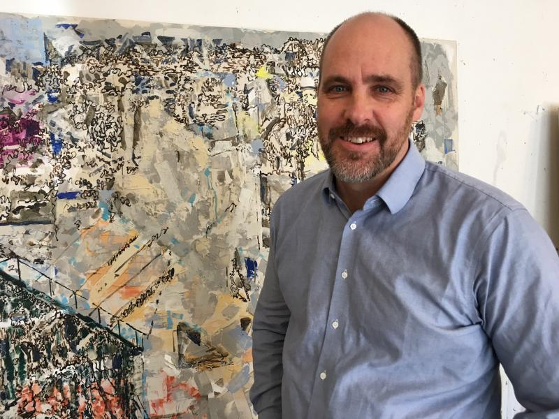 Matthew Kolodziej teaches art at the University of Akron and founded the Synapse art series, which bridges art and science.