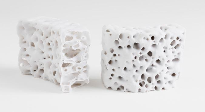 Jenny Sabin's polybrick is part of her digital ceramics inititive to create bricks using 3D printing.