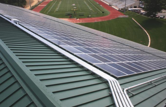 College of Wooster solar panels