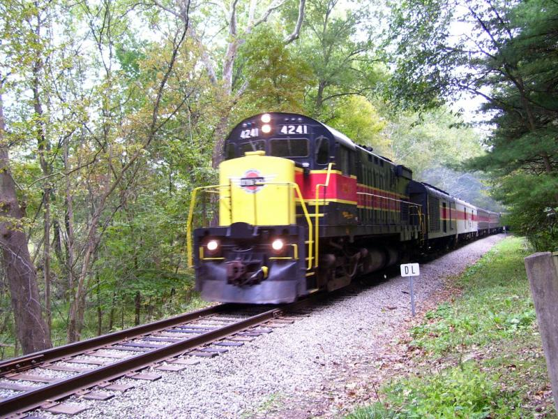 photo of train on scenic railroad