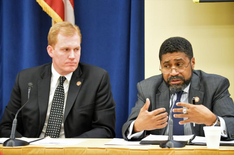 photo of Rep. Ryan Smith and Rep. Fred Strahorn