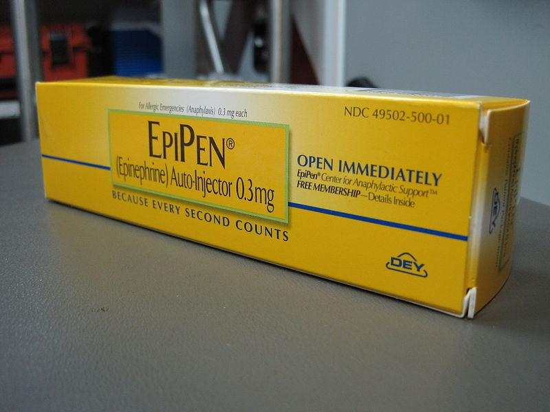 photo of epipen in box