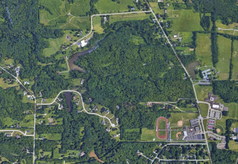 aerial photo of Cuyaghoa Falls open space