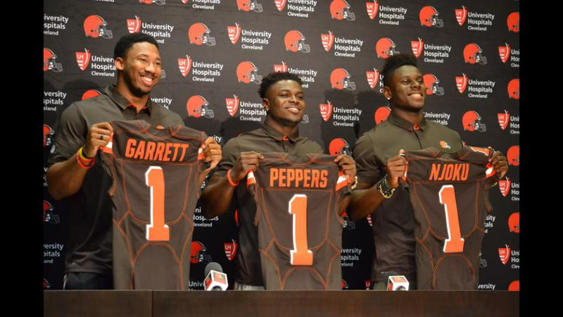 photo of Myles Garrett, Jabril Peppers and David Njoku