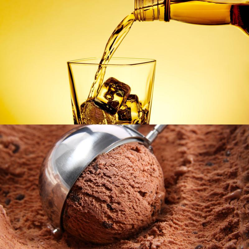 The House's budget proposal includes a provision to let liquor permit holders to make alcoholic ice cream.