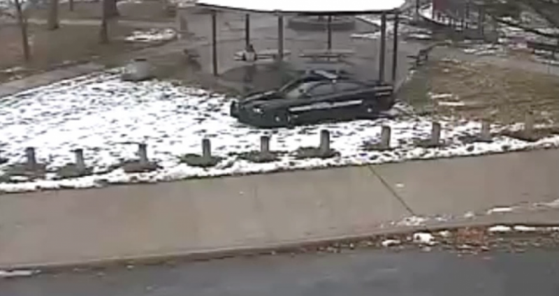 Photo of Frank Garmback and Loehmann's zone car near Tamir Rice.