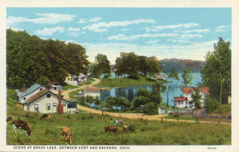 historic postcard of Brady Lake
