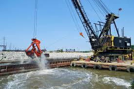 Army Corps of Engineers Dredging Operation