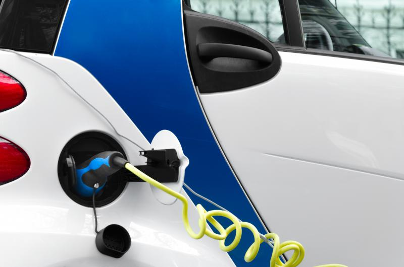 Photo of an electric car.