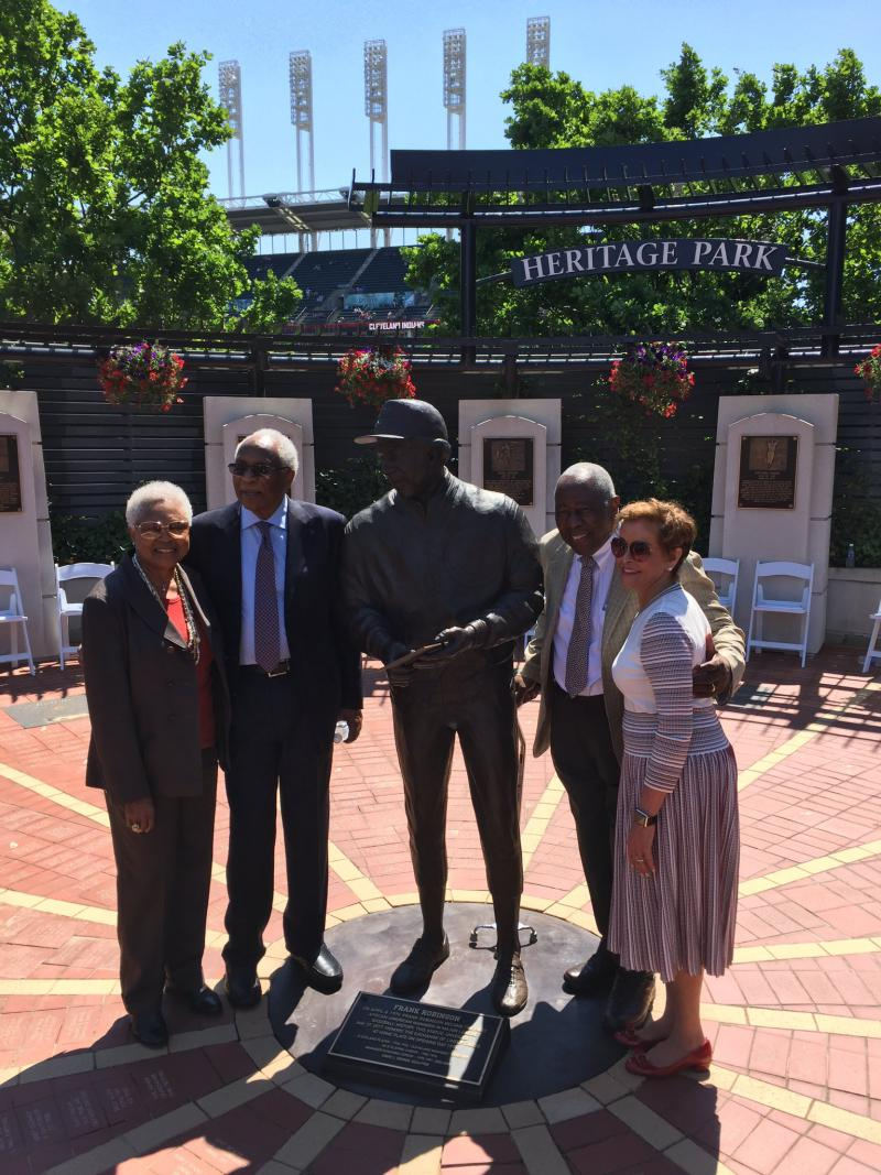photo of Frank Robinson, Hank Aaron
