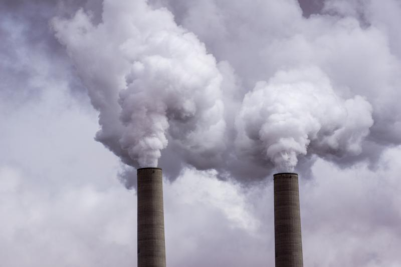 photo of smoke stacks