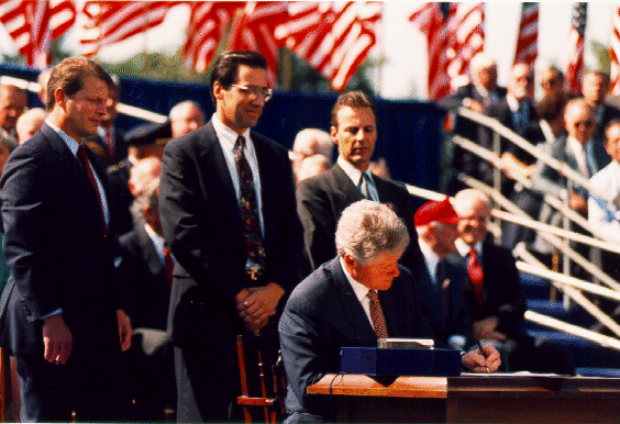 President Clinton signs NAFTA