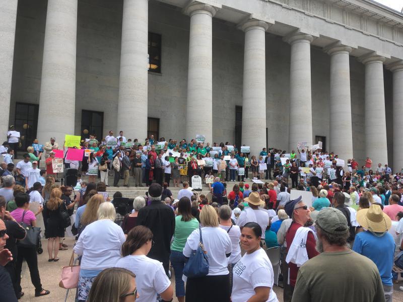 photo of Save Medicaid rally