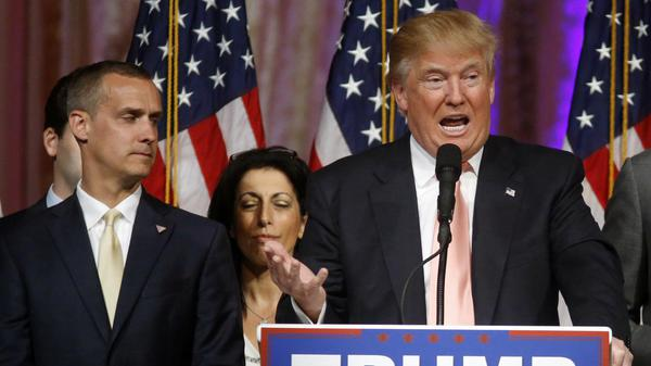 photo of Corey Lewandowski and Donald Trump