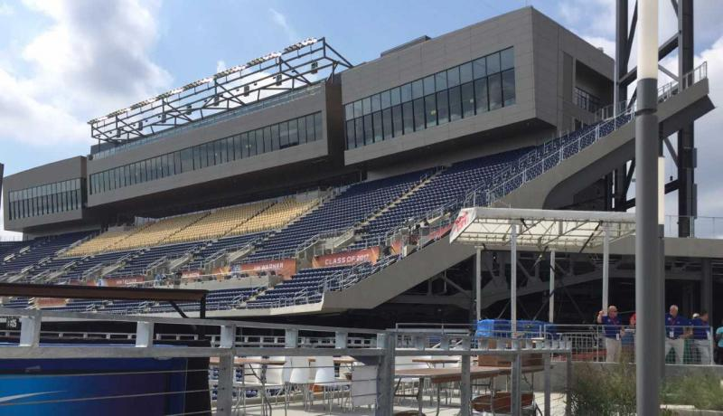 Press Box and South Stands