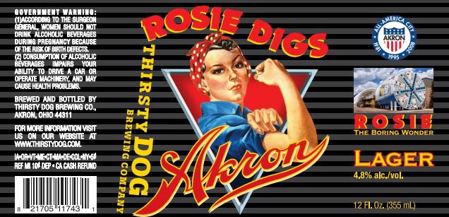 photo of Rosie Digs Akron beer label