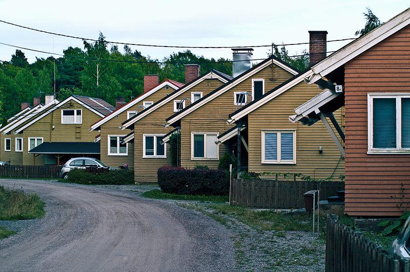A row of houses