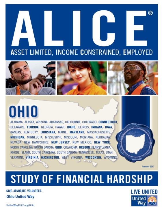 photo of ALICE report cover