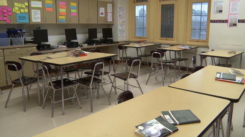 photo of empty classroom