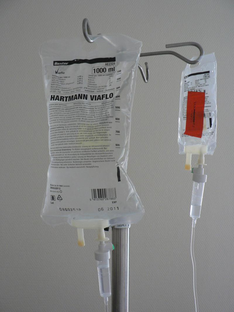 photo of IV bags