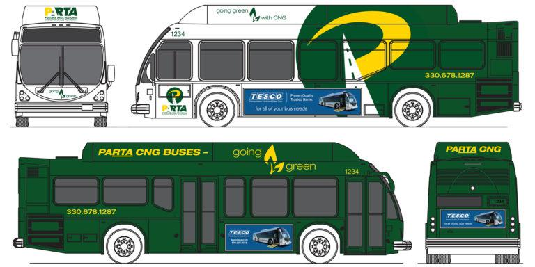Drawings of new bus design for PARTA