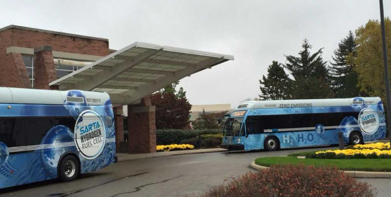 Hyrogen fuel cell buses