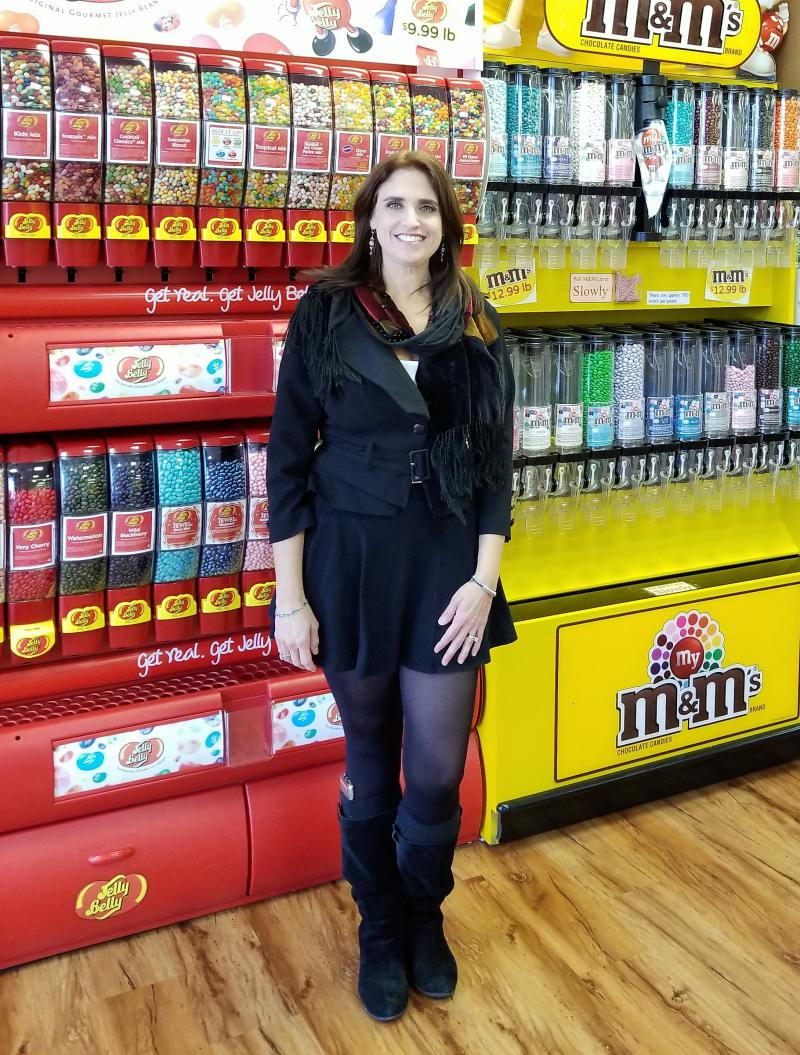 Photo of Elisabeth Sapell posing in All City Candy