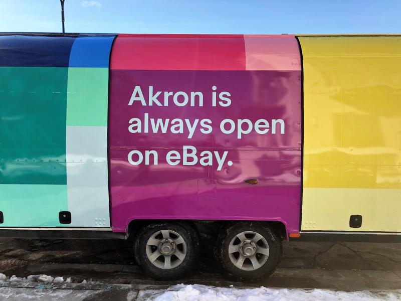 Online retail giant eBay plans to open an office in Akron's downtown business incubator as part of its pilot Retail Revival program to promote regional small businesses.