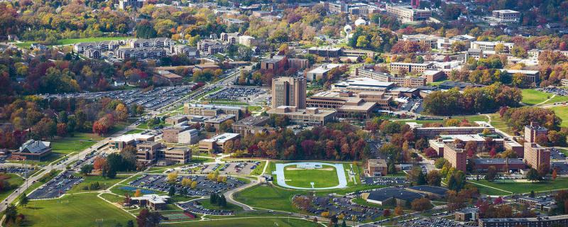 aerial photo of Kent State University