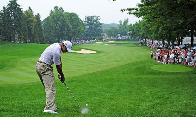 Tiger Woods won eight Bridgestone titles in Akron
