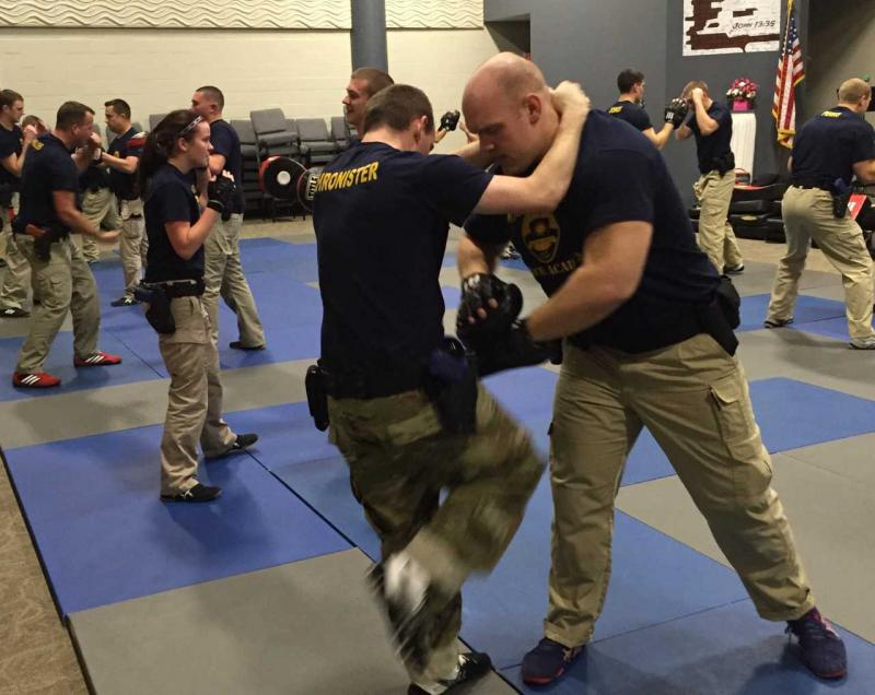 Police academy training for combative situations