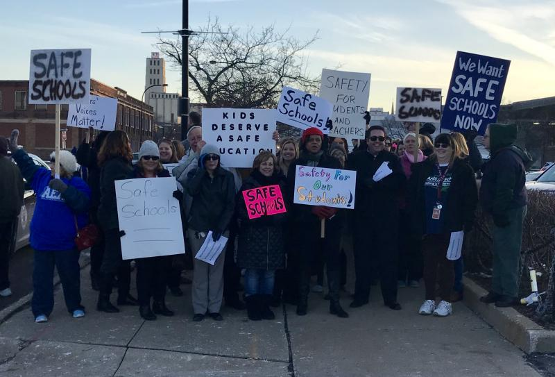 Akron public schools protesters